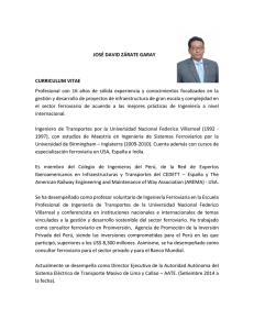 JOSÉ DAVID ZÁRATE GARAY CURRICULUM VITAE