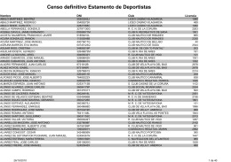 Censo definitivo Estamento de Deportistas