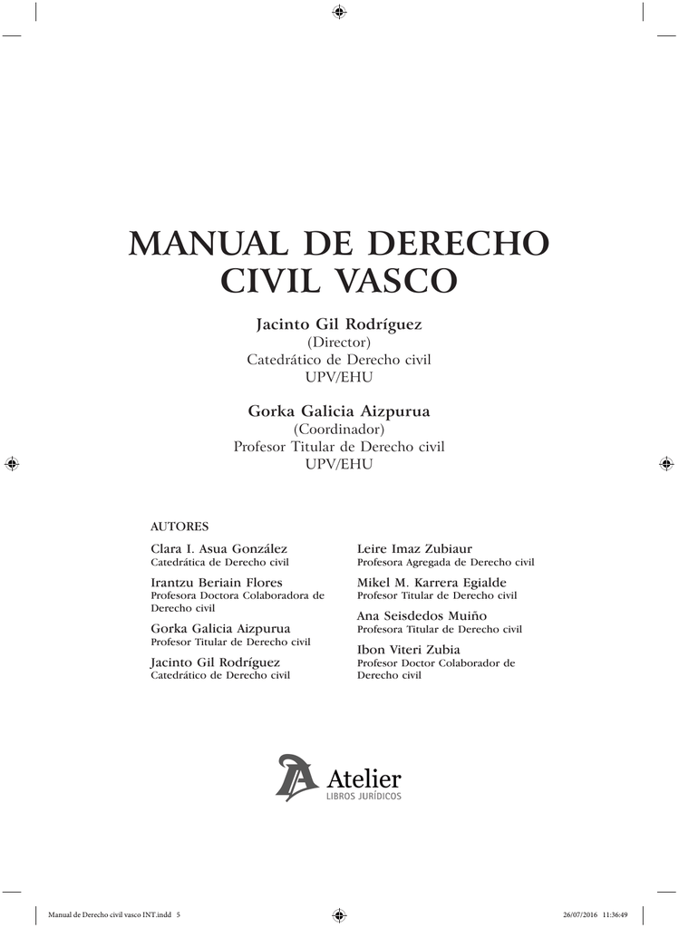 Manual De Derecho Civil Vasco