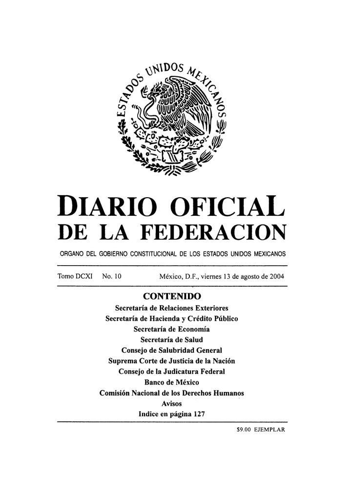 new arrival b09fd c4a65 Diario Oficial de la Federación