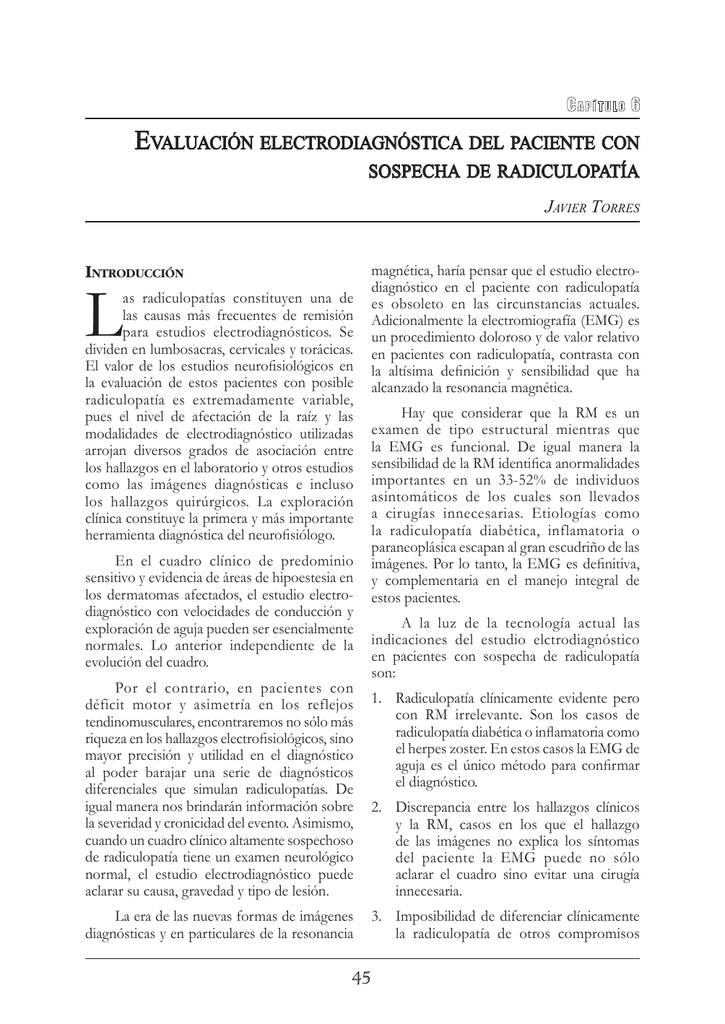 Radiculopatia l5 s1 cronica