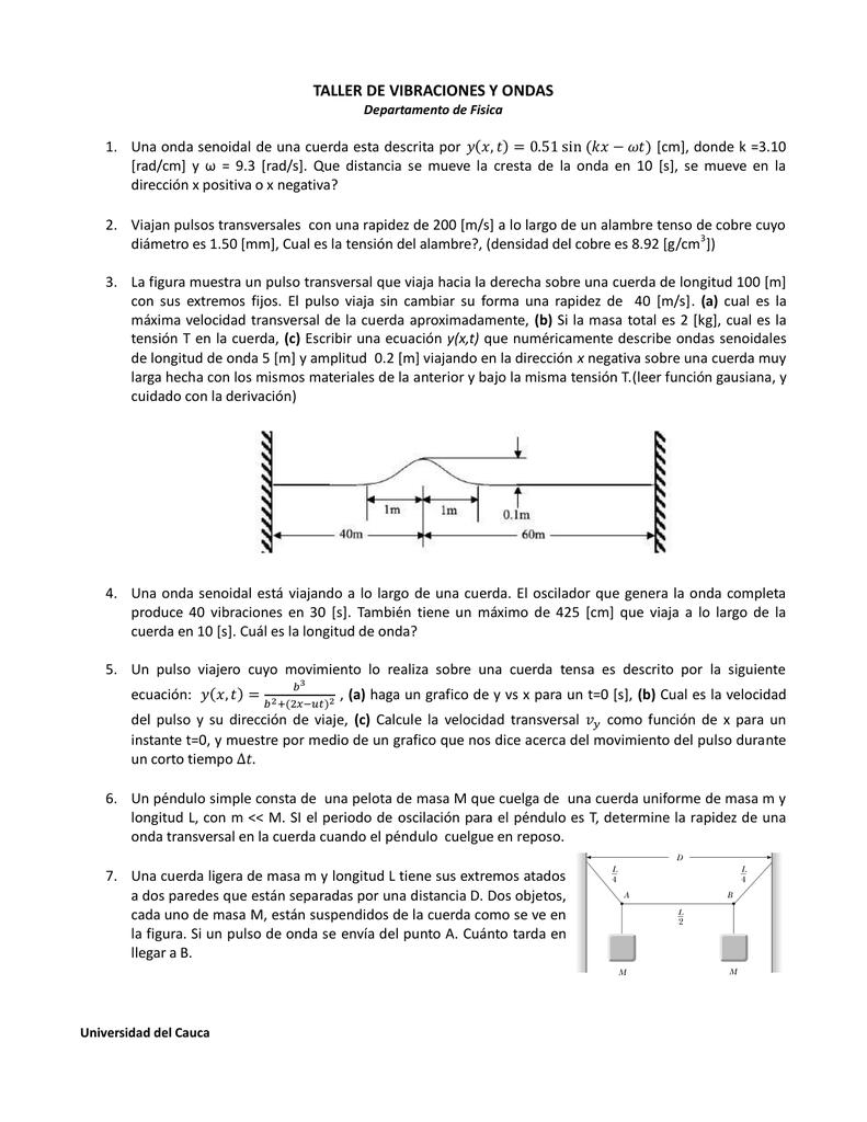 en que se mide la tension de una cuerda