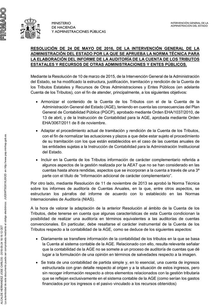 Norma Técnica Para La Elaboración Del Informe De La