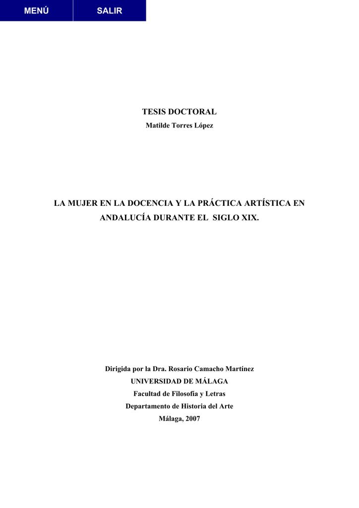 Tesis Doctoral La Mujer En La Docencia Y La Prctica Artstica