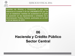 06 Hacienda y Crédito Público Sector Central
