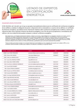 Lista de arquitectos peritos tasadores coam 2015 - Listado arquitectos madrid ...