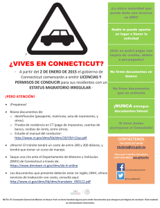 ¿VIVES EN CONNECTICUT?