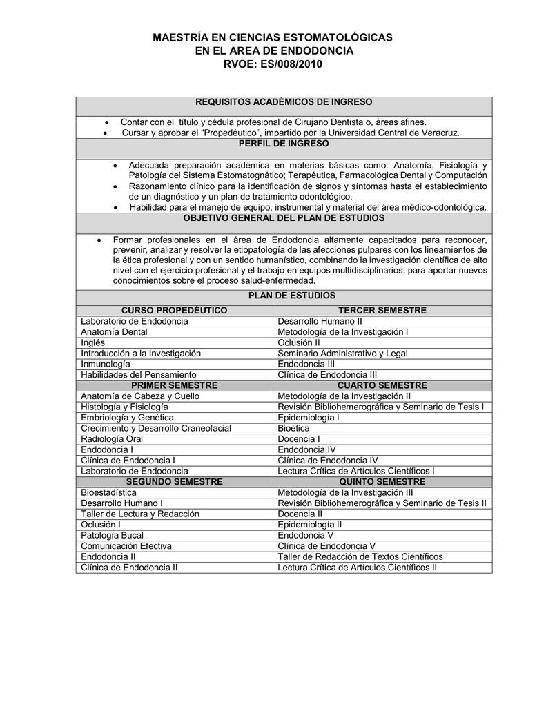 Plan de Estudios - Universidad Central de Veracruz