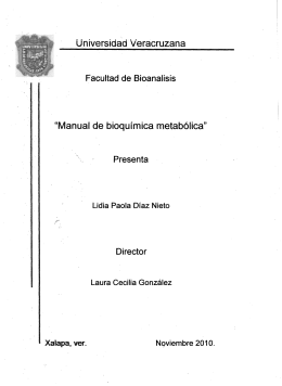"Universidad Veracruzana ""Manual de bioqulmica metabolica"""