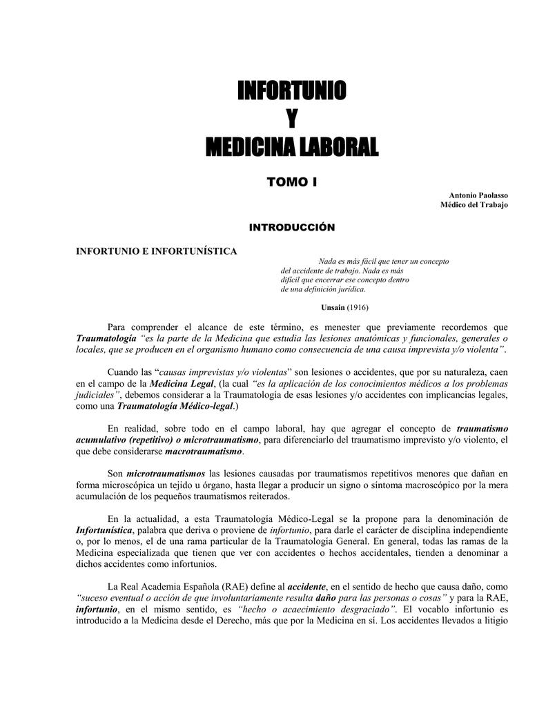 ebc30938f infortunio y medicina laboral - trabajos dr. antonio paolasso
