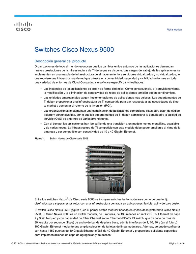 Switches Cisco Nexus 9500