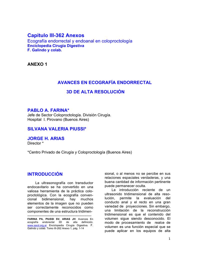 Anexo I. Avances en ecografía endorectal 3D de alta resolución.