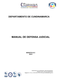 manual de defensa judicial - CundiNet