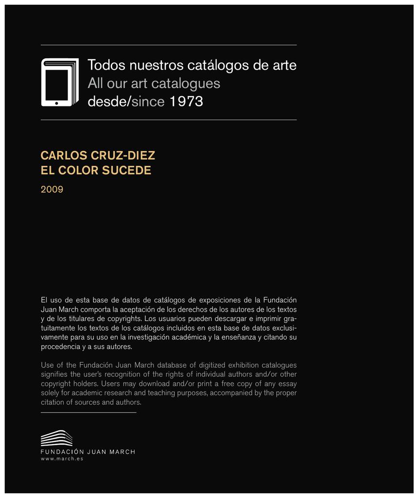 Carlos Cruz-Díez : el color sucede