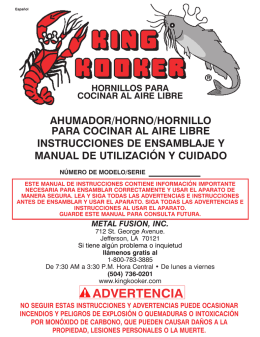 advertencia - King Kooker