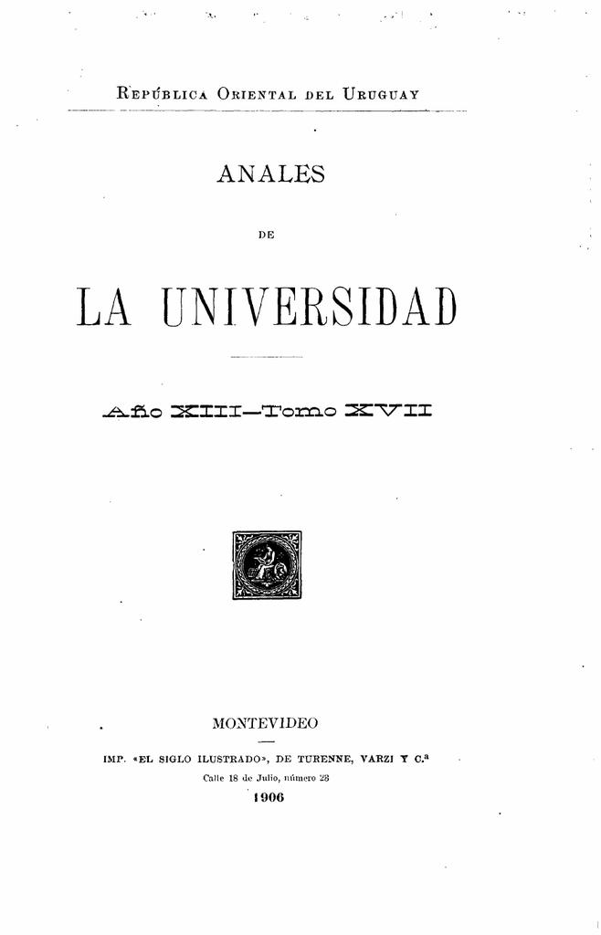 la universidad - Publicaciones Periódicas del Uruguay