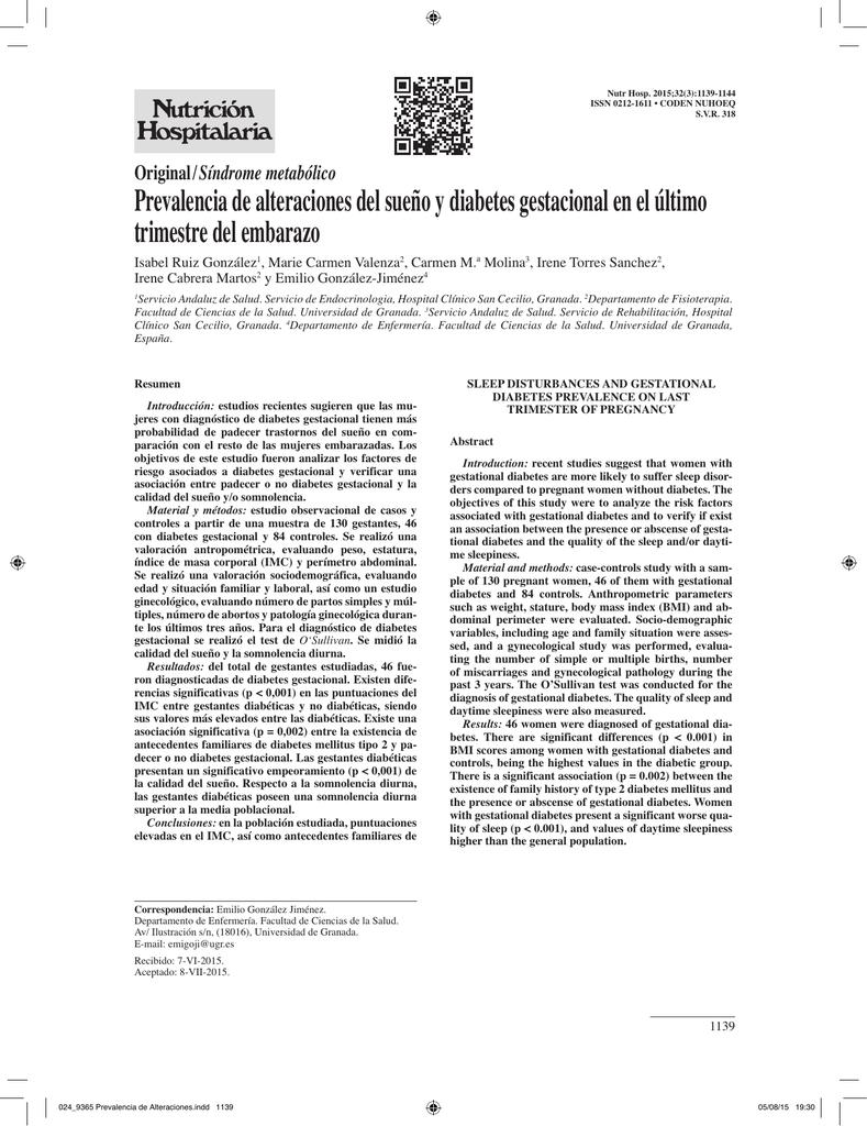 síndrome de apnea obstructiva del sueño epidemiología de la diabetes