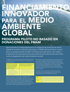 FINANCIAMIENTO INNOVADOR AMBIENTE GLOBAL