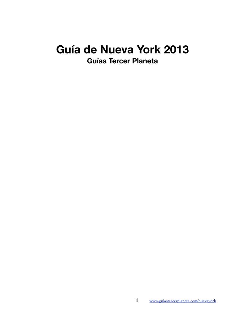 Guia de Nueva York 2013