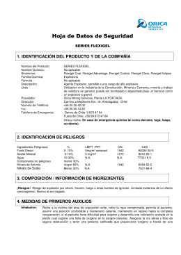 MSDS Flexigel Series - Chile