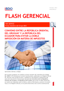 Flash 10 11 Convenio Doble Tributacion Uruguay