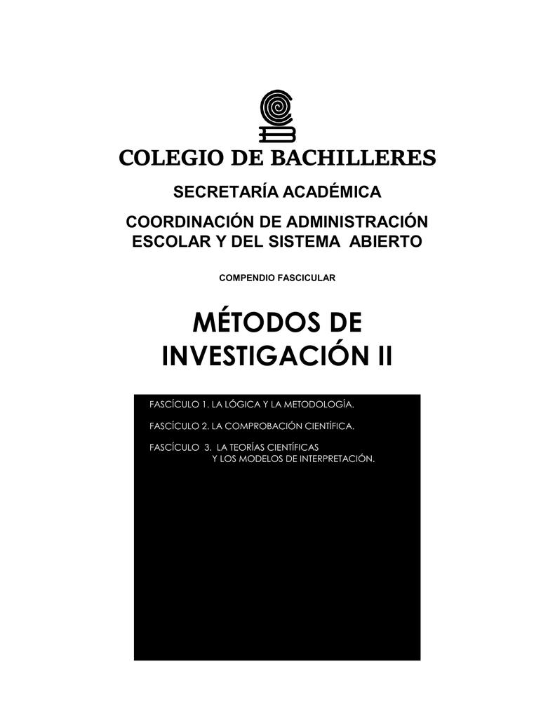 mtodos de investigacin ii repositorio cb