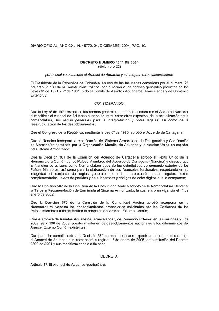DIARIO OFICIAL. AÑO CXL. N. 45772. 24, DICIEMBRE