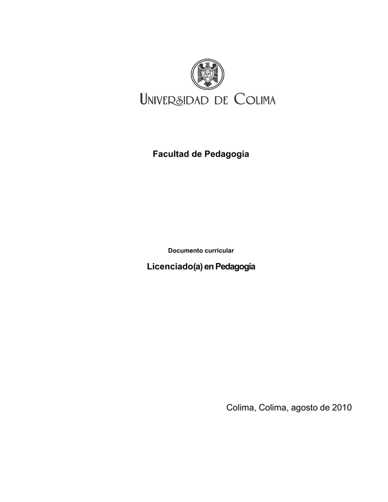 Documento curricular - Universidad de Colima