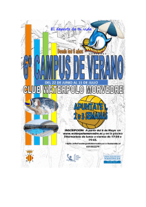 Campus - CLUB WATERPOLO MORVEDRE