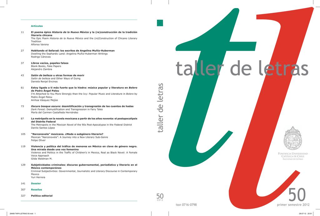 Artículos - Facultad de Letras - Pontificia Universidad Católica de