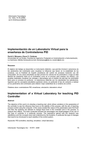Implementación de un Laboratorio Virtual para la enseñanza de