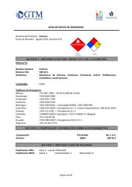 Ficha de seguridad solumastic for Ficha tecnica silestone