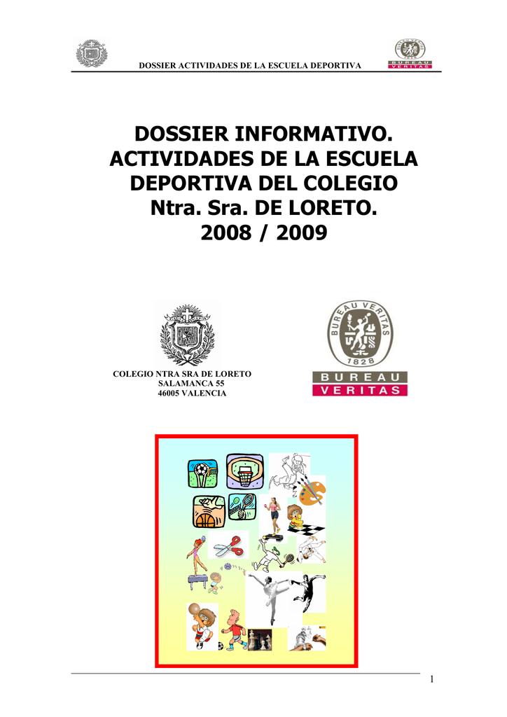 Dossier Informativo Actividades De La Escuela