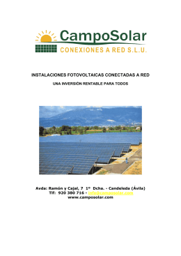 Documentación de CampoSolar. (*pdf)