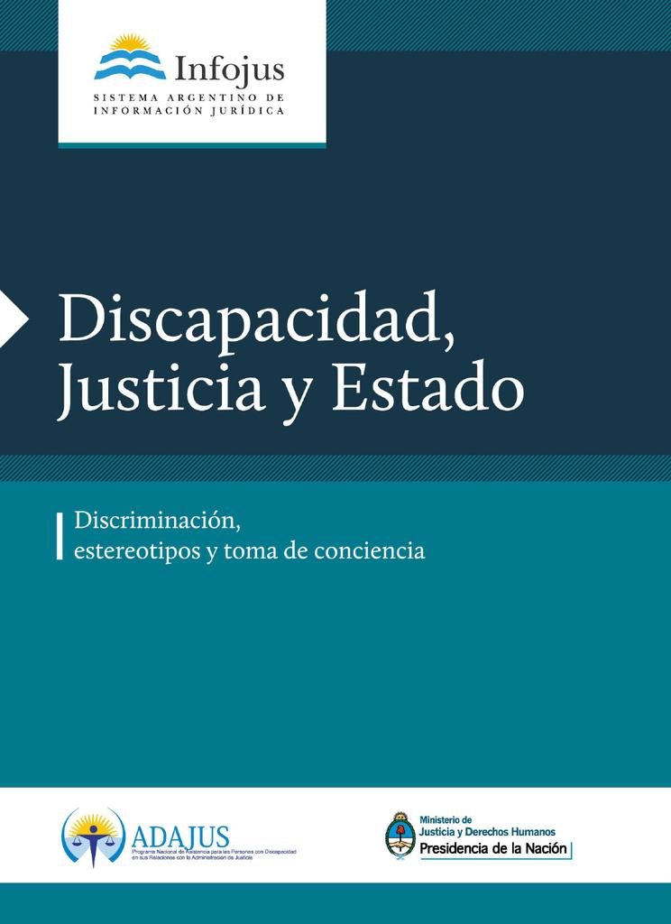 Revista Discapacidad Justicia Y Estado Estereotipos