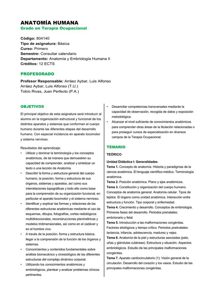 anatomía humana - Universidad Complutense de Madrid