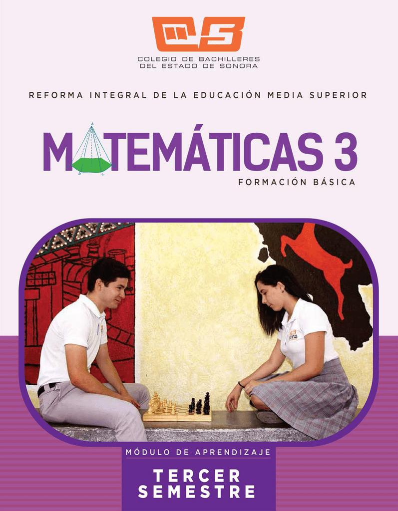 Matemáticas 3 Colegio De Bachilleres Del Estado De Sonora