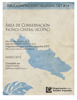 Marzo 2012 - Organization for Tropical Studies