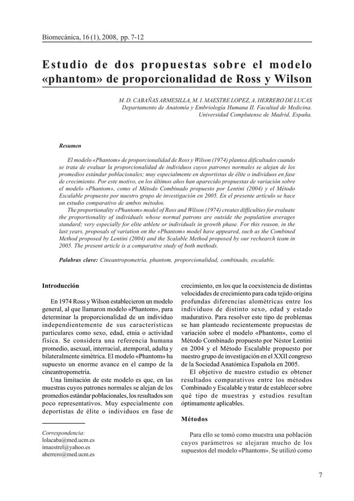Estudio de dos propuestas sobre el modelo «phantom