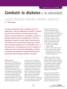 Combatir la diabetes y la obesidad - International Diabetes Federation