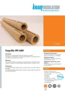 Coquilla IPS 680 - Knauf Insulation