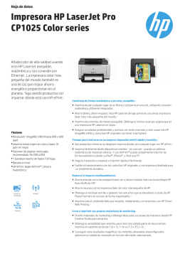 Impresora HP LaserJet Pro CP1025 Color series
