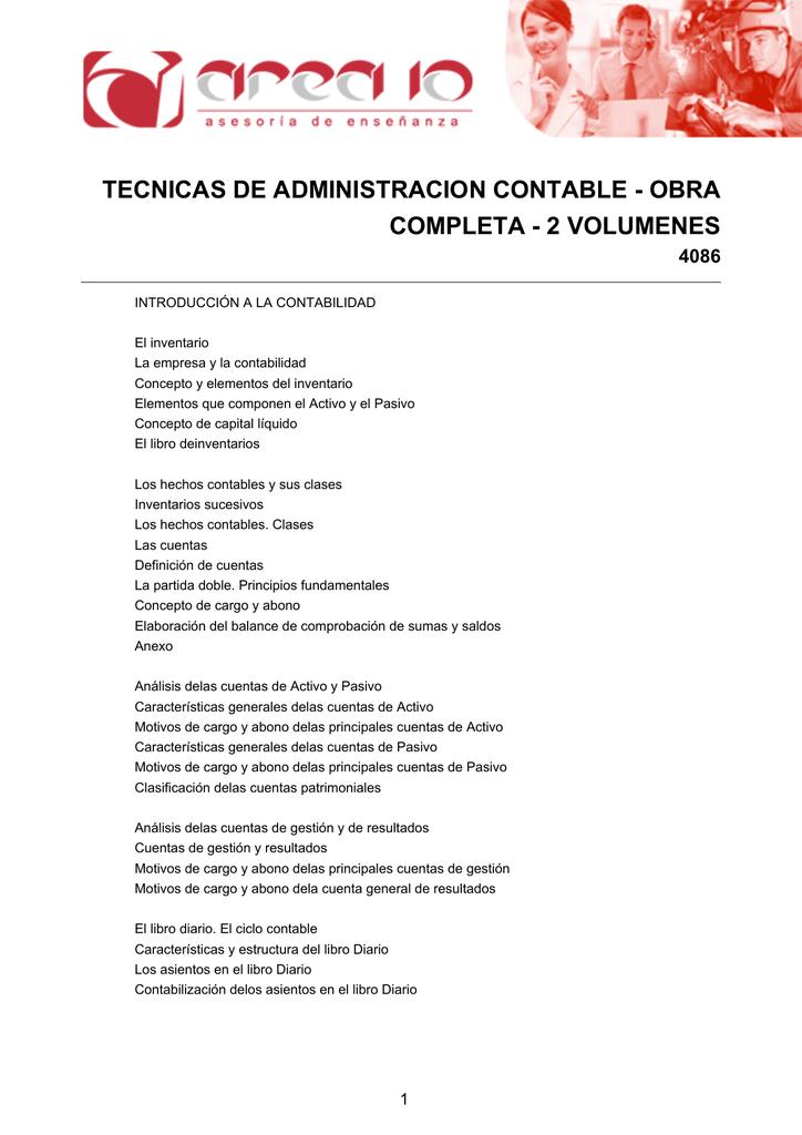 Tecnicas De Administracion Contable