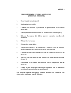 ANEXO 3 REQUISITOS PARA FUTUROS