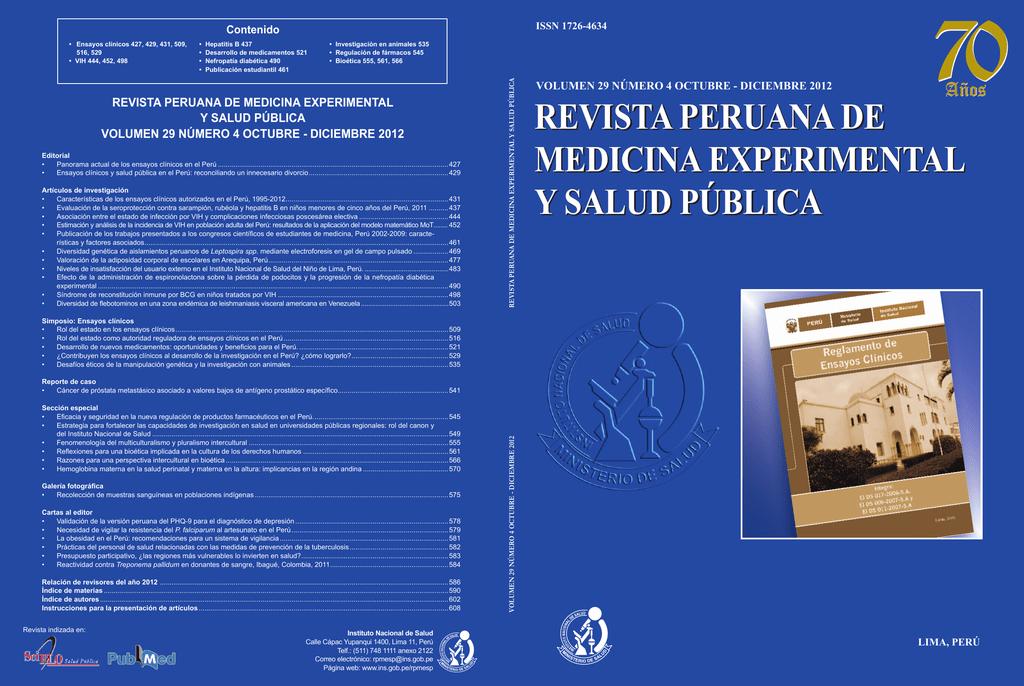 Revista Peruana De Medicina Experimental Y Salud Publica Revista