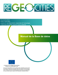 Manual de la Base de datos