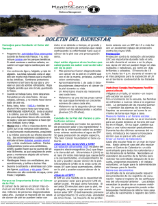 Summer Newsletter-Spanish