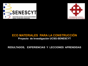 ECO MATERIALES - Instituto Nacional de Eficiencia Energética y