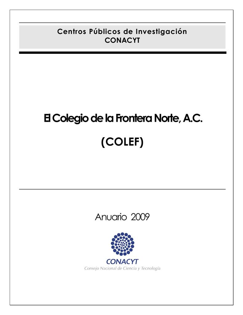 El Colegio de la Frontera Norte, AC (COLEF)