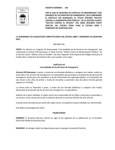 LA HONORABLE XIV LEGISLATURA CONSTITUCIONAL DEL